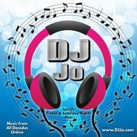 DJ Logo Online Instagram Plasing template