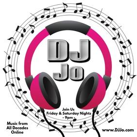DJ Logo Online Publicación de Instagram template