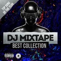 DJ Mixtape Album Cover Portada de Álbum template