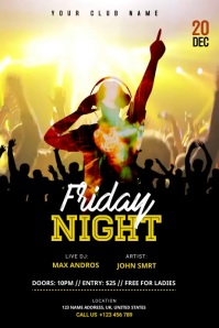 DJ Music Night club Video banner template