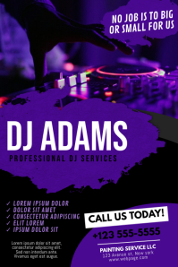 Dj Night Club Services Flyer Template