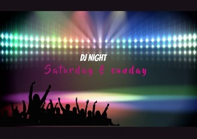 Dj night Postkort template