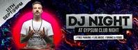 DJ Night Facebook Cover Zdjęcie w tle na Facebooka template