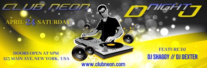 DJ Night Flyer 电子邮件标题 template