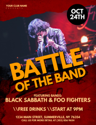 Battle of The Band Flyer template