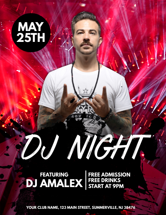Dj Night Flyer Template Postermywall