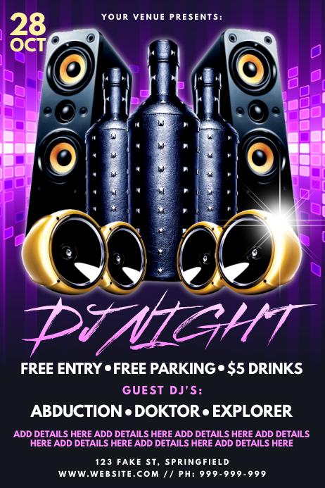 DJ Night Poster