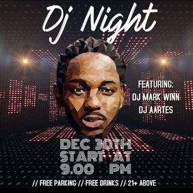 DJ Night template Instagram Post