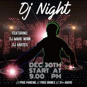 DJ Night template Instagram na Post