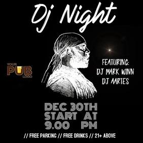DJ Night template Pos Instagram