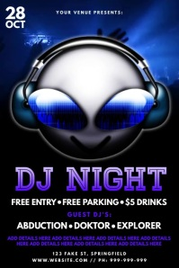 DJ Night Video Poster template