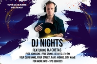 DJ NIGHTS Etiket template