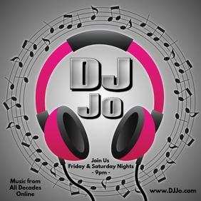 DJ Online Сообщение Instagram template