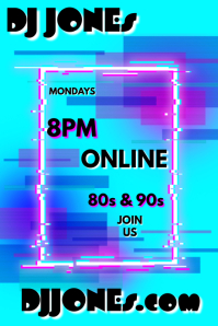 DJ Online Poster template