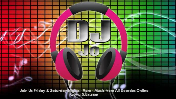 DJ Online วิดีโอหน้าปก Facebook (16:9) template