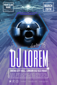 DJ Party Event Disco Flyer Poster