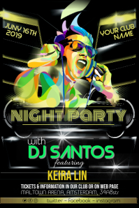 DJ Party Event Night Flyer Poster