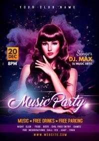 DJ party Flyer A4 template