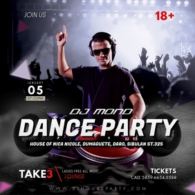 DJ Party Invite Social Media Post Template Iphosti le-Instagram