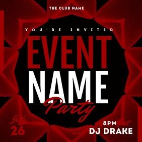 Dj Party Night Event Video Template Instagram Plasing