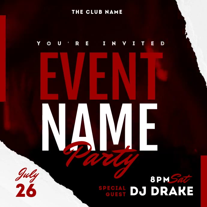 Dj Party Night Event Video Template