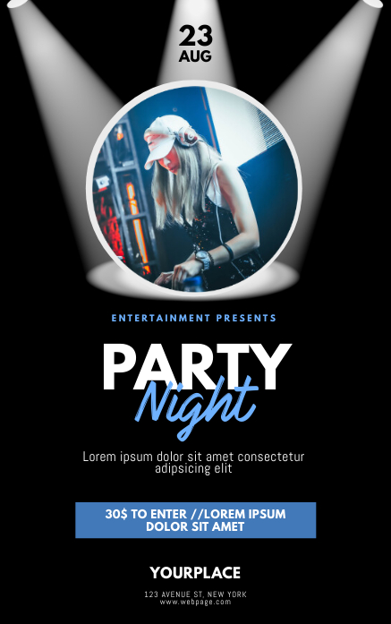 Dj Party Night Flyer Template