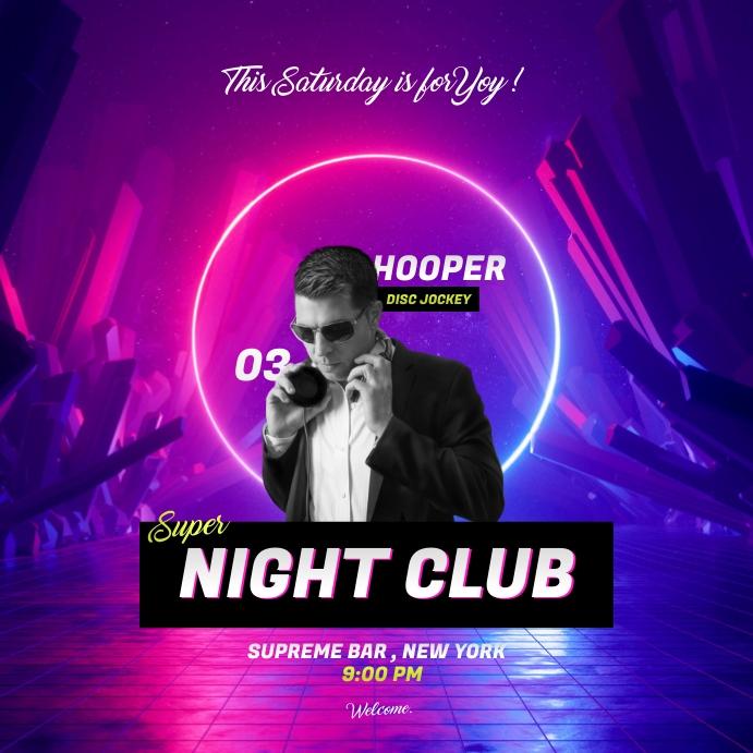 Dj Party Poster Instagram Plasing template