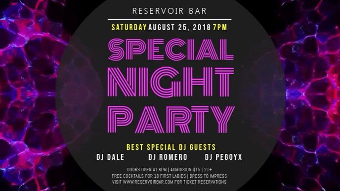 DJ Party Rave Digital Display Video