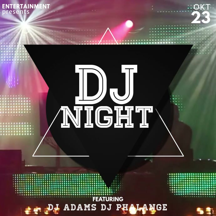Dj party video advertising template