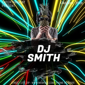 Dj party video flyer template