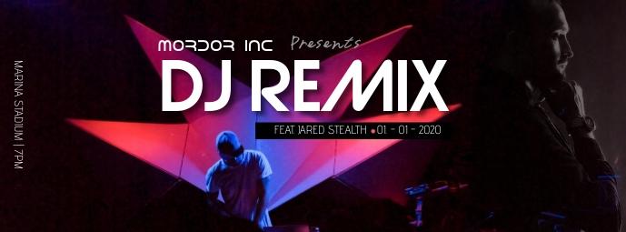 DJ REMIX Facebook Cover Photo template