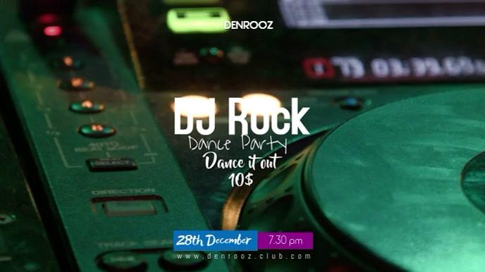 DJ Rock Digital na Display (16:9) template