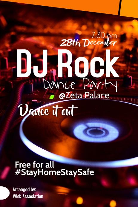 DJ Rock Poster template