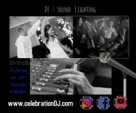 DJ sound lighting events party weddings celeb Persegi Panjang Sedang template