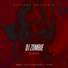DJ Zombie ReMixes CD Cover Art Template Portada de Álbum