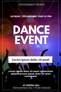 Dnace event flyer template