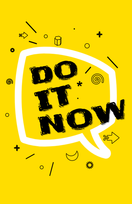 Do it Now 小报 template