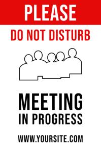 Do Not Disturb, Meeting In Progress Sign A4 2 template