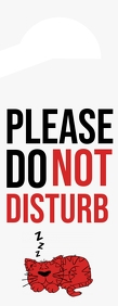 Do not disturb Door Sign Letter Setengah Halaman template