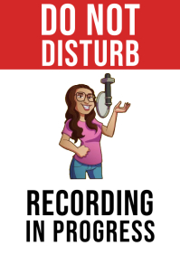 Do Not Disturb Recording In Progress Sign A4 template