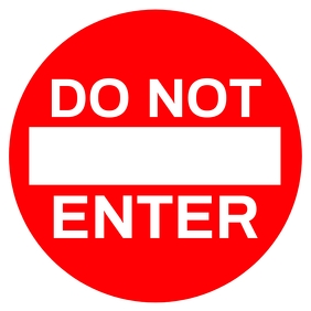 Do Not Enter Here Sign Board Template โพสต์บน Instagram