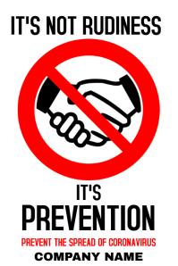 Do not handshake coronavirus poster