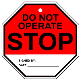 Do Not Operate Sign Template Square (1:1)