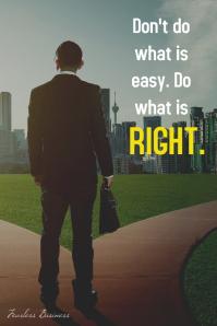 Do what is right advice inspiration poster โปสเตอร์ template