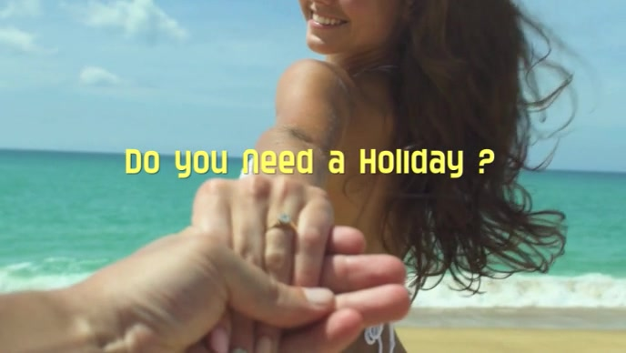 do you need a holiday Vídeo de portada de Facebook (16:9) template