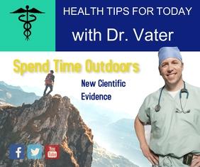 doctor's blog/hospital/clinic/health/salud สามเหลี่ยมขนาดใหญ่ template