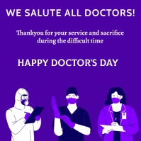 doctor's day Instagram Post template