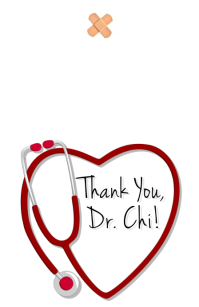 Doctor's Thank You Card Demi-page de format Wide template
