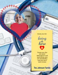 Doctor Nurse Medical Thank You Flyer Card