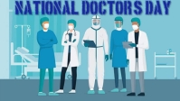 Doctors day Видеообложка профиля Facebook (16:9) template